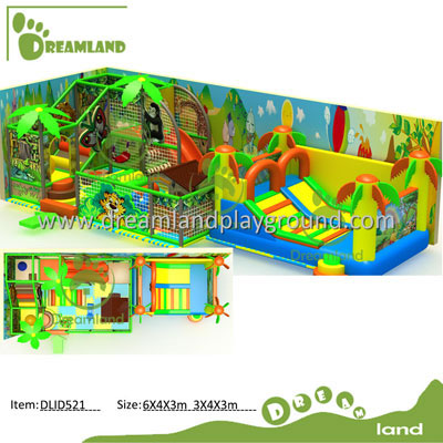 Jungle Theme Indoor Playground Equipment Indoor Jungle Gym