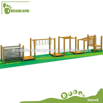 Gymnastic preschool outdoor wooden fitness equipment set DL4106b