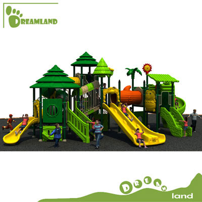 kids plastic slide outdoor playground equipment DL14-067A