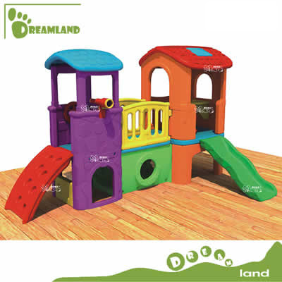 fancy plastic cubby house for kids DL-04202