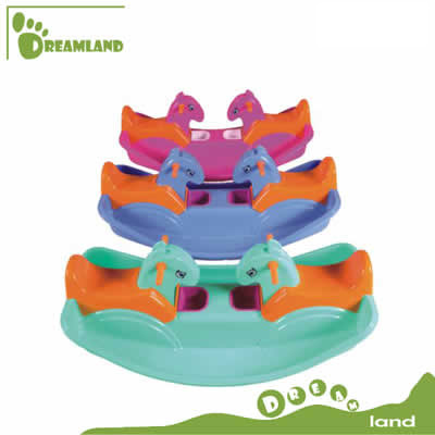 fancy two-kid-use rocking horse plastic seesaw toys DL-07502