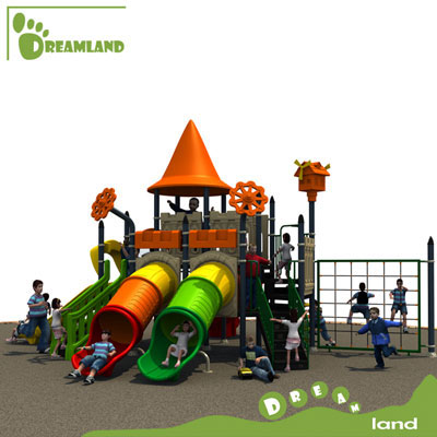 kids play house Outdoor Wooden Playground DL14-102A