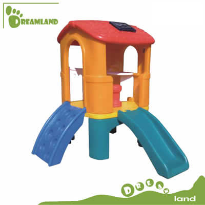 kindergarten popular funy plastic indoor playhouse with slide DL-05103