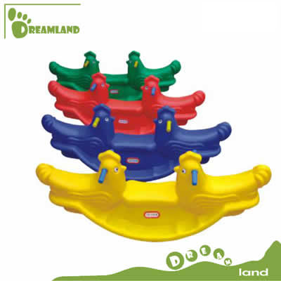 latest design seesaw style plastic rocking horse DL-06812