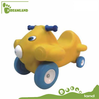 New style riding on cars rocking horse with wheel DL-06805