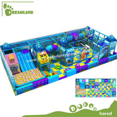 ocean theme commercial indoor play structure for kids DLID218
