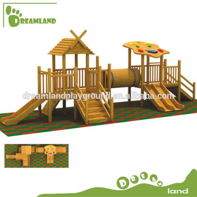 outdoor wood children playground equipment DL4069A