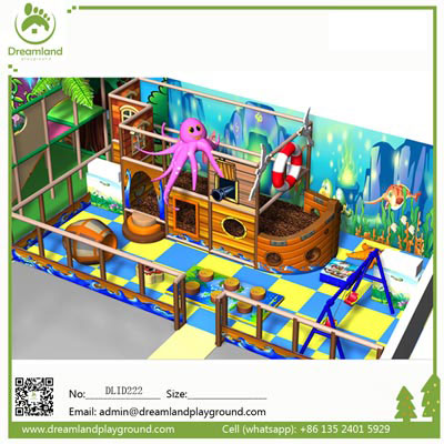 Hot sale pirate ship indoor playground for kids DLID222