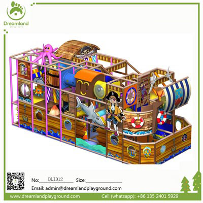 2017 Factory price pirate ship theme indoor playground DLID002