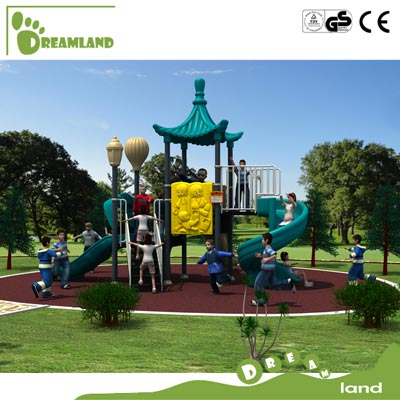 big plastic outdoor children playground equipment DL14-006A