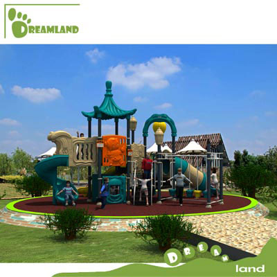 big plastic used kids outdoor playground equipment DL14-005A