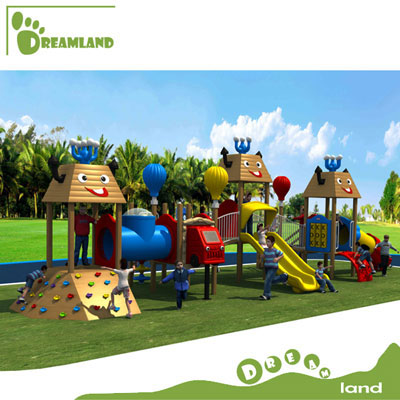 wooden playhouse for kids outdoor playground DL14-129B