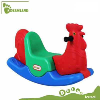 Three colors cute plastic riding on horse for kids DL-06803