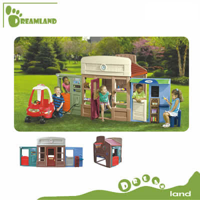 Top quality smart garden plastic play house for kids DL-04901
