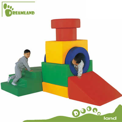 tunnel and slide soft play for kids DL-S013