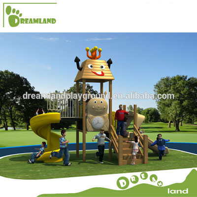 hot sell wooden outdoor playground equipment sets DL14-131B