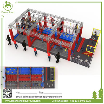 Cannonball alley Ninja warrior obstacle course for kids DL 20A