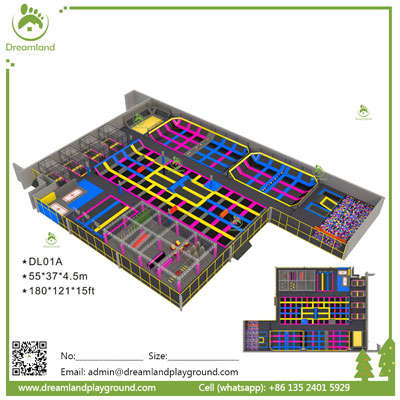 Indoor Jumping Bungee Trampoline Park DL 01A