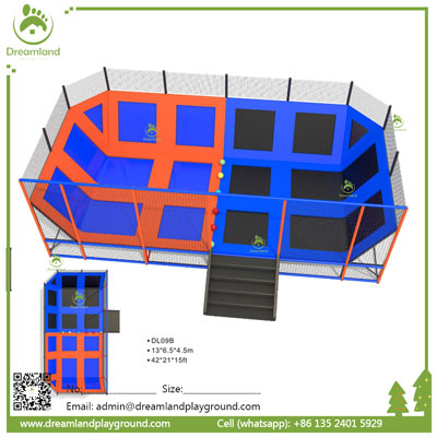 Relaxing Indoor Trampoline Park for sale DL09B