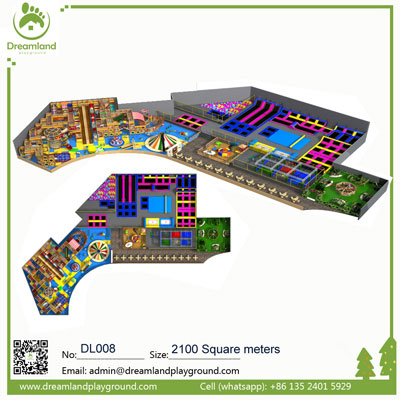 Theme Indoor Playground with Trampolines DL008