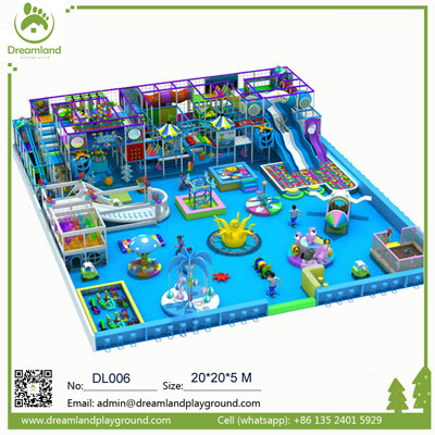 Wholesale Professional Ocean Theme Kids Indoor Playground DL006