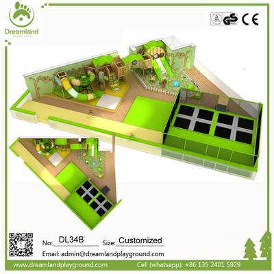 Commercial Kids Indoor Playground with Trampoline Park DL34B