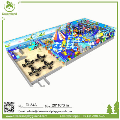 Durable New Kids Small Indoor Playground Equipment near Me DL34A