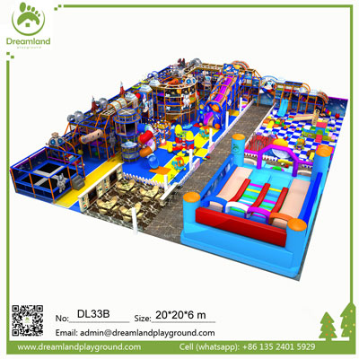 Factory Direct Sale Ocean Theme Indoor Soft Playground for Kids DL33B