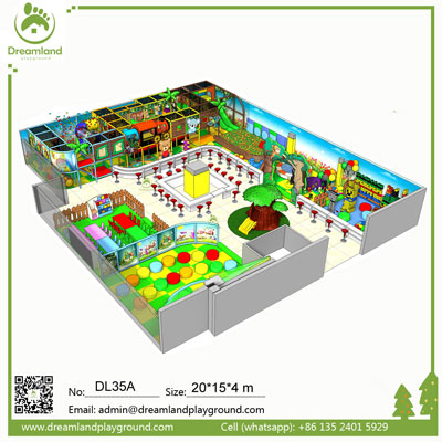 Luxury Amusement Park Soft Play Equipment Indoor Playground with Ball Pool DL35A