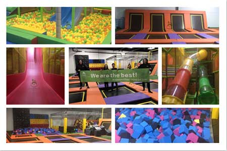 Canada large indoor playground with indoor trampoline park