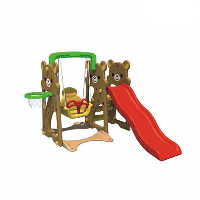 Outdoor plastic equipment manufacture wholesale slide and swing sets DL-05503