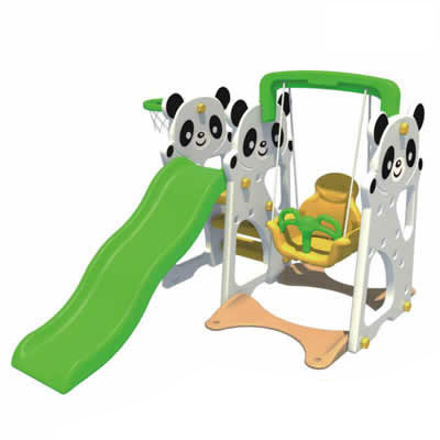 Panda theme multifunction outdoor slide and swing toys DL-05603