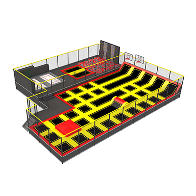 Children Indoor Funny Jumping Bungee Trampoline Park DL 01A