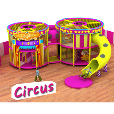 Circus theme indoor playground Equipment, soft play structure DL010