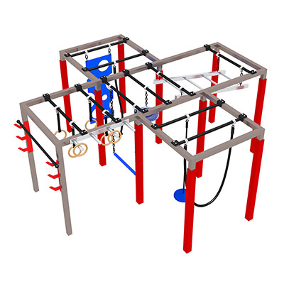 Custom outdoor ninja backyard obstacles for kids DL071133