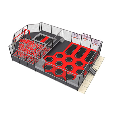 Kids Indoor Trampoline with Foam Balls Professional Jump Mat for Adults DL J1220