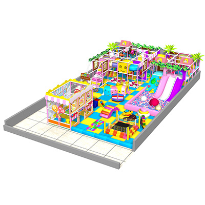 Newest candy theme kids soft play structure indoor playground DL019
