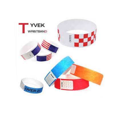 Paper Tyvek Wristband with logo printing DLW001