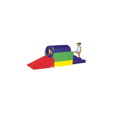 Tunnel and slide soft play DL-S014