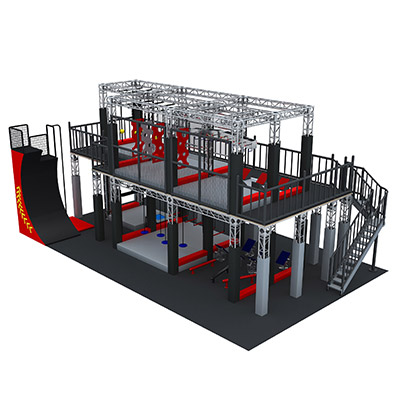 TUV approved double layers ninja warrior obstacles for sale DL20071119